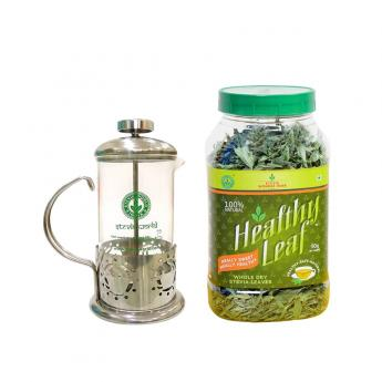 french-press-350ml-healthy-leaf-natural-stevia-dry-leaves